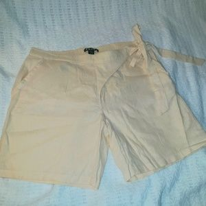 Linen Blend Shorts Beach Poolside Criuse Golf tenn